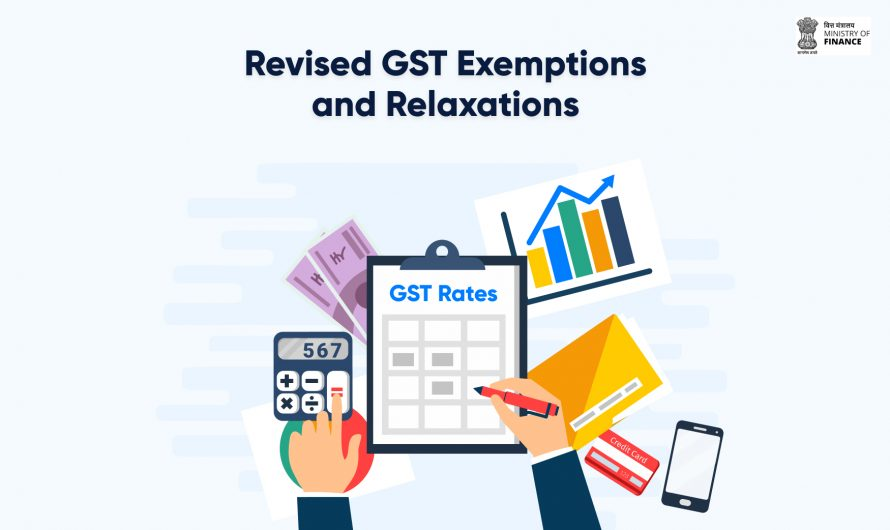 The revised GST rates, exemptions, and relaxations for SMEs