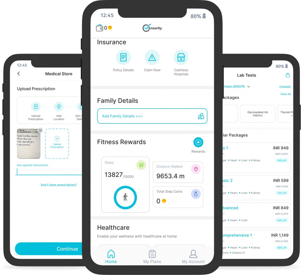 The Onsurity App is your single destination for all your healthcare needs