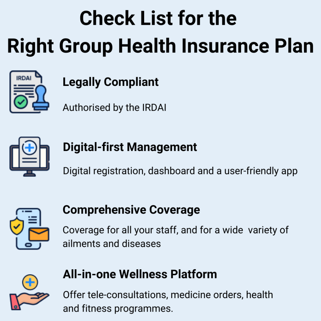 A handy checklist to help pick the right group health insurance plan