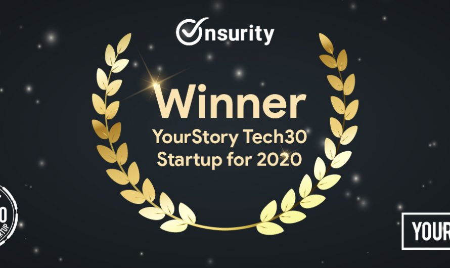 Onsurity Featured as Tech30 Startup by YourStory at Techsparks 2020