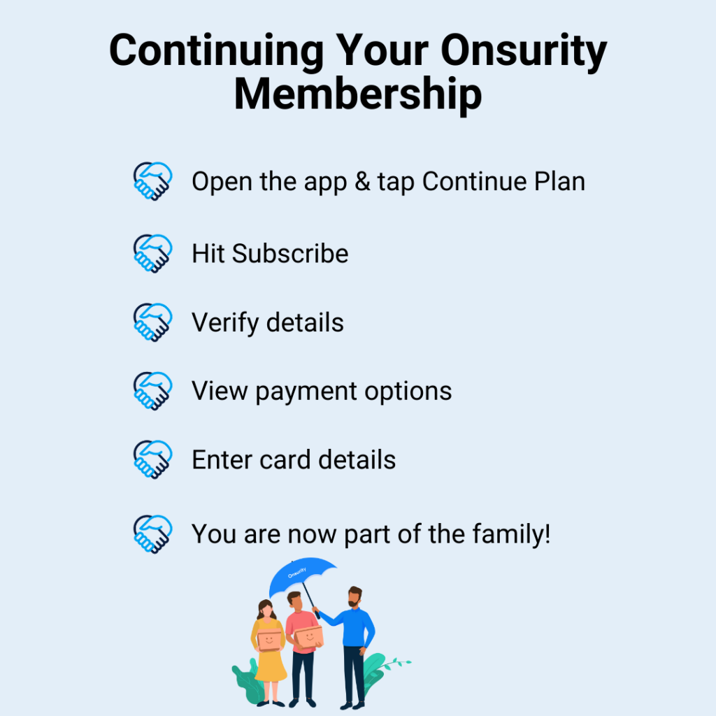 How to keep your Onsurity membership healthcare benefits