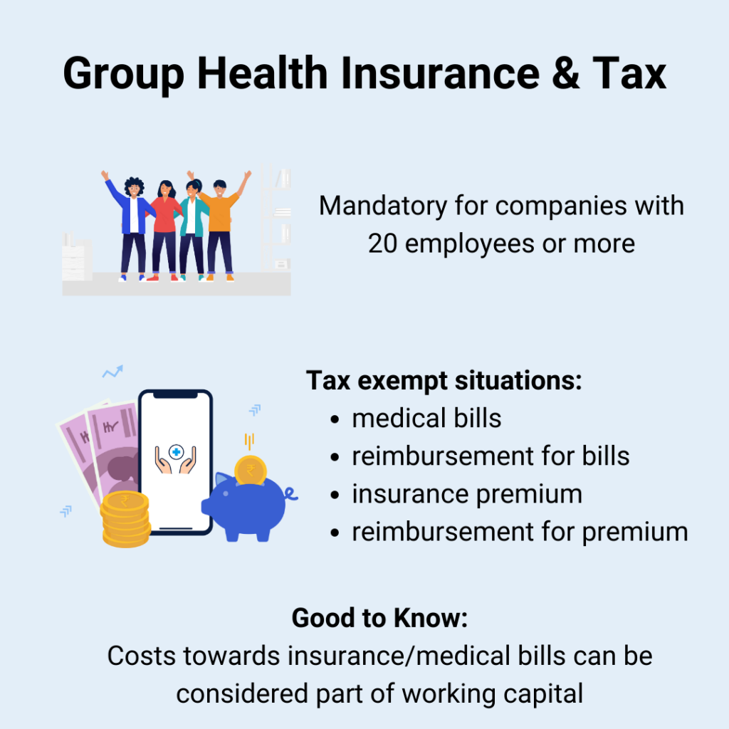 group health insurance and tax benefits