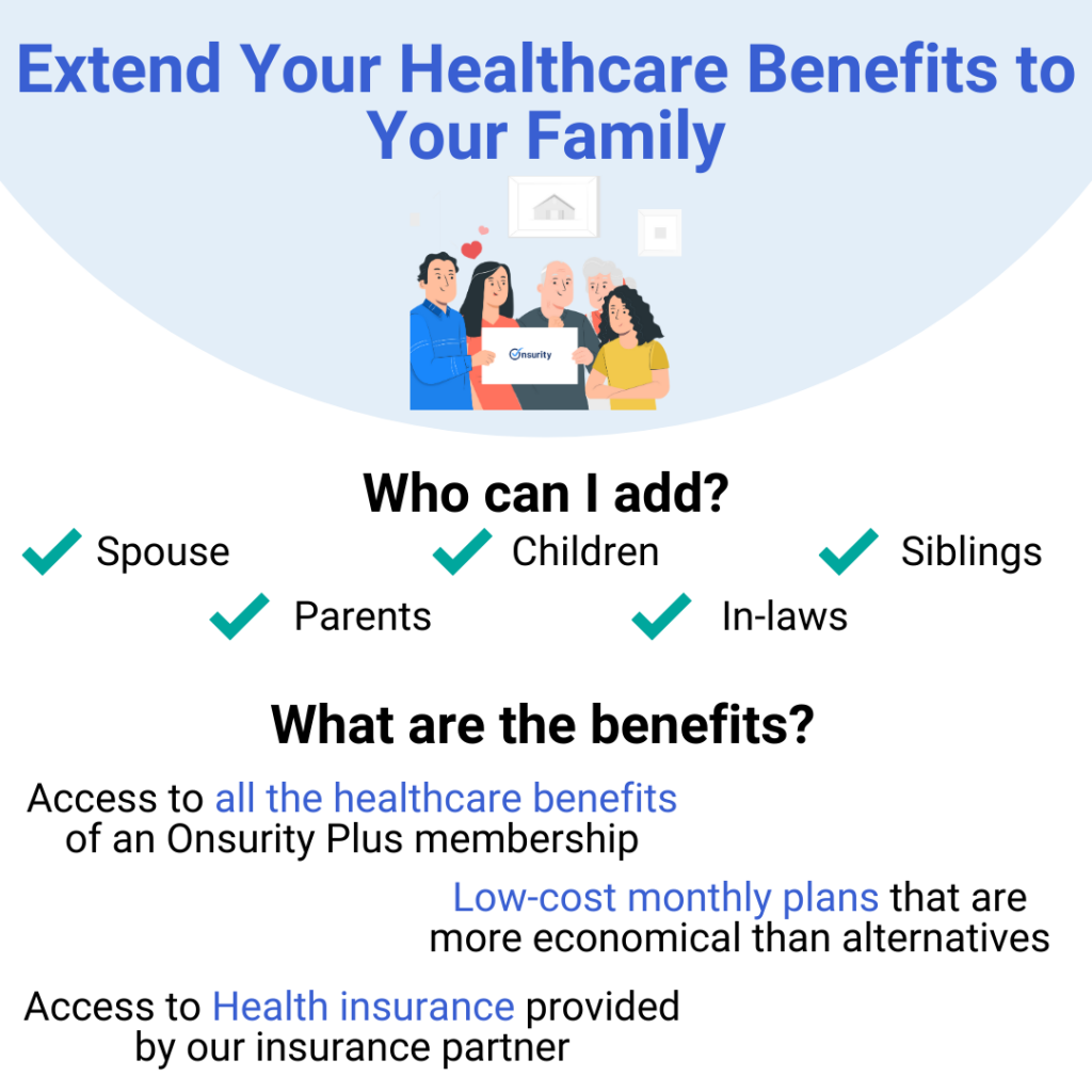 Adding family with Onsurity Plus