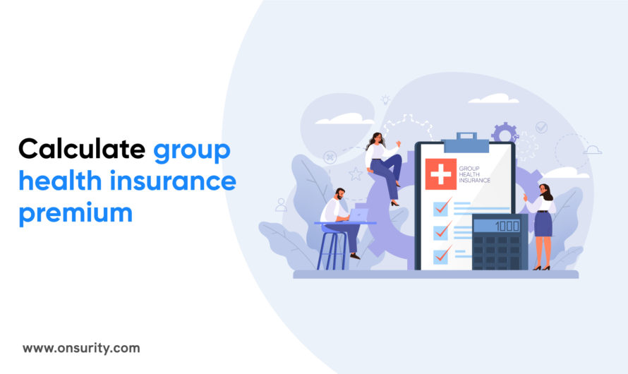How is group health insurance premium calculated?